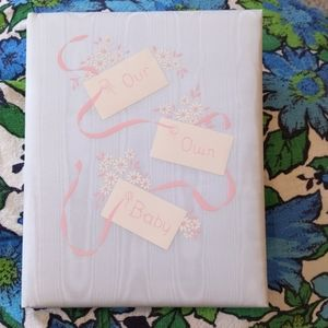 Vintage padded baby book. 1950s. NOS